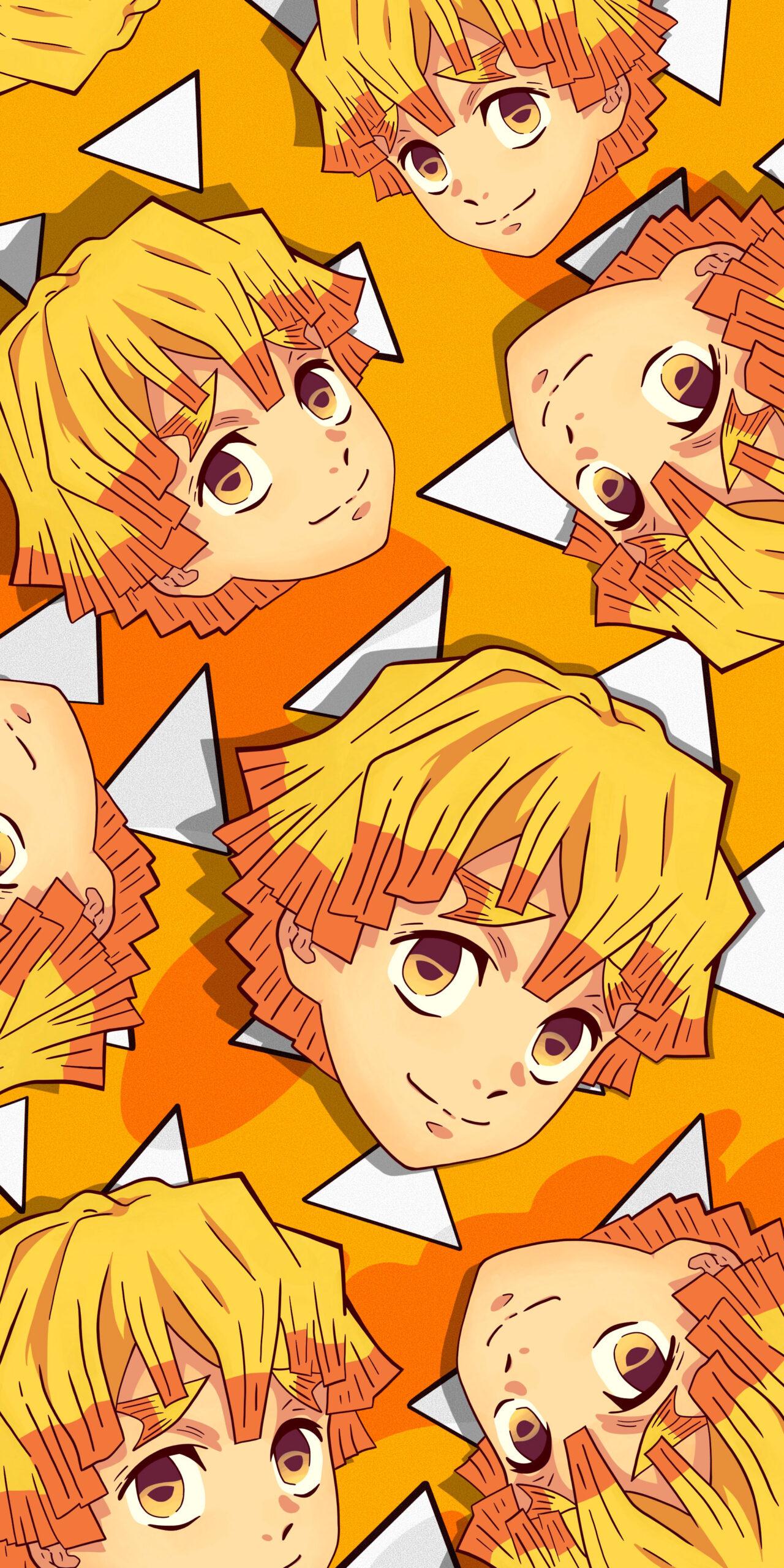 Zenitsu Wallpaper with his Haori Background - Demon Slayer ...