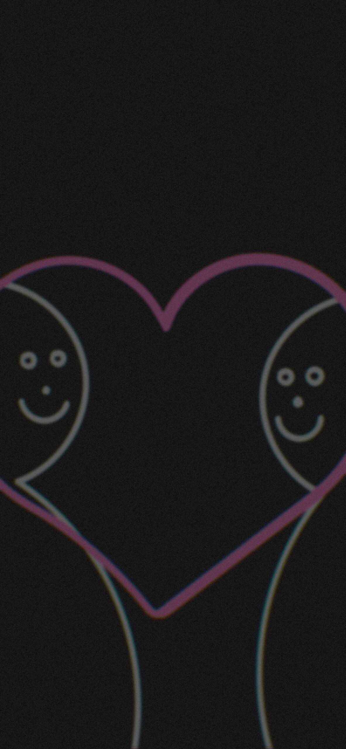 love makes us happy black background