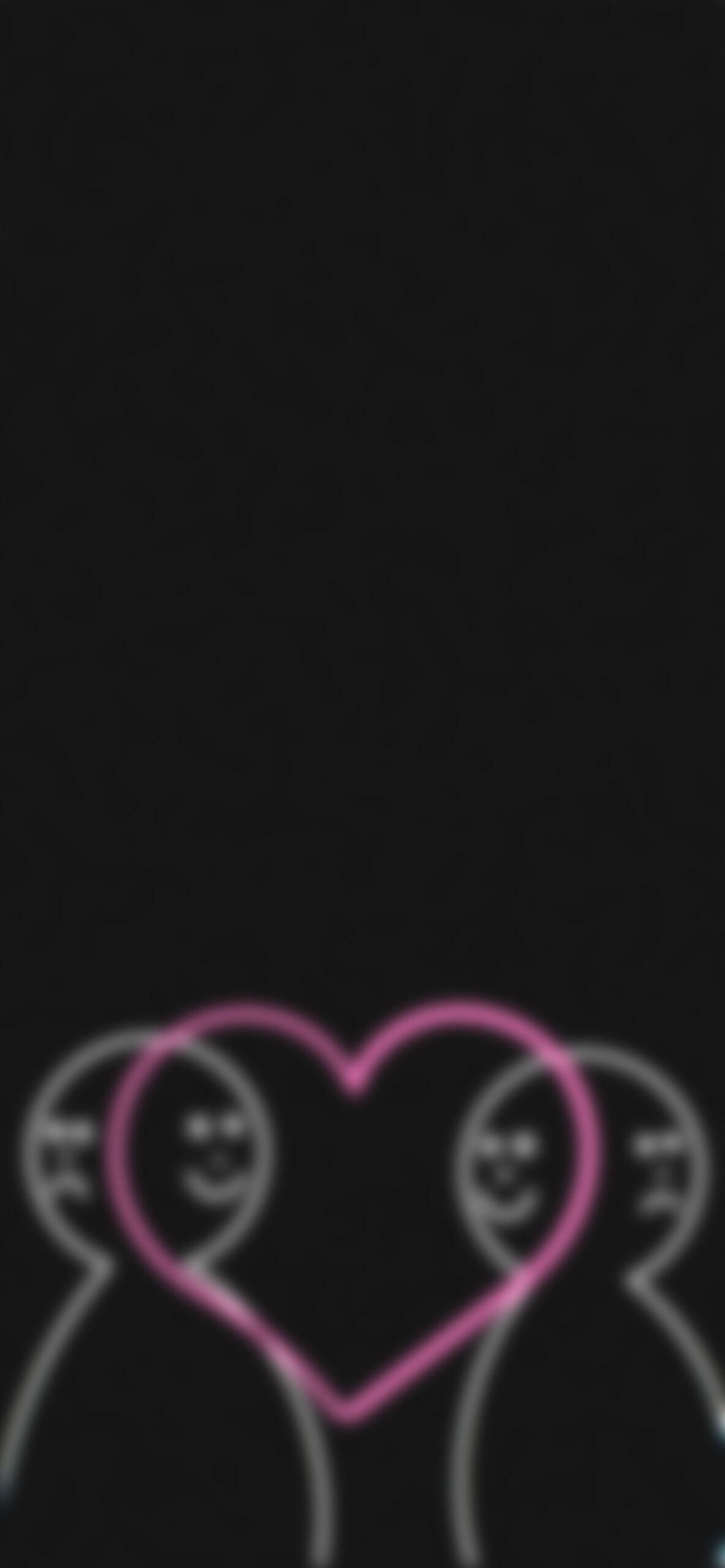 love makes us happy black blur wallpaper