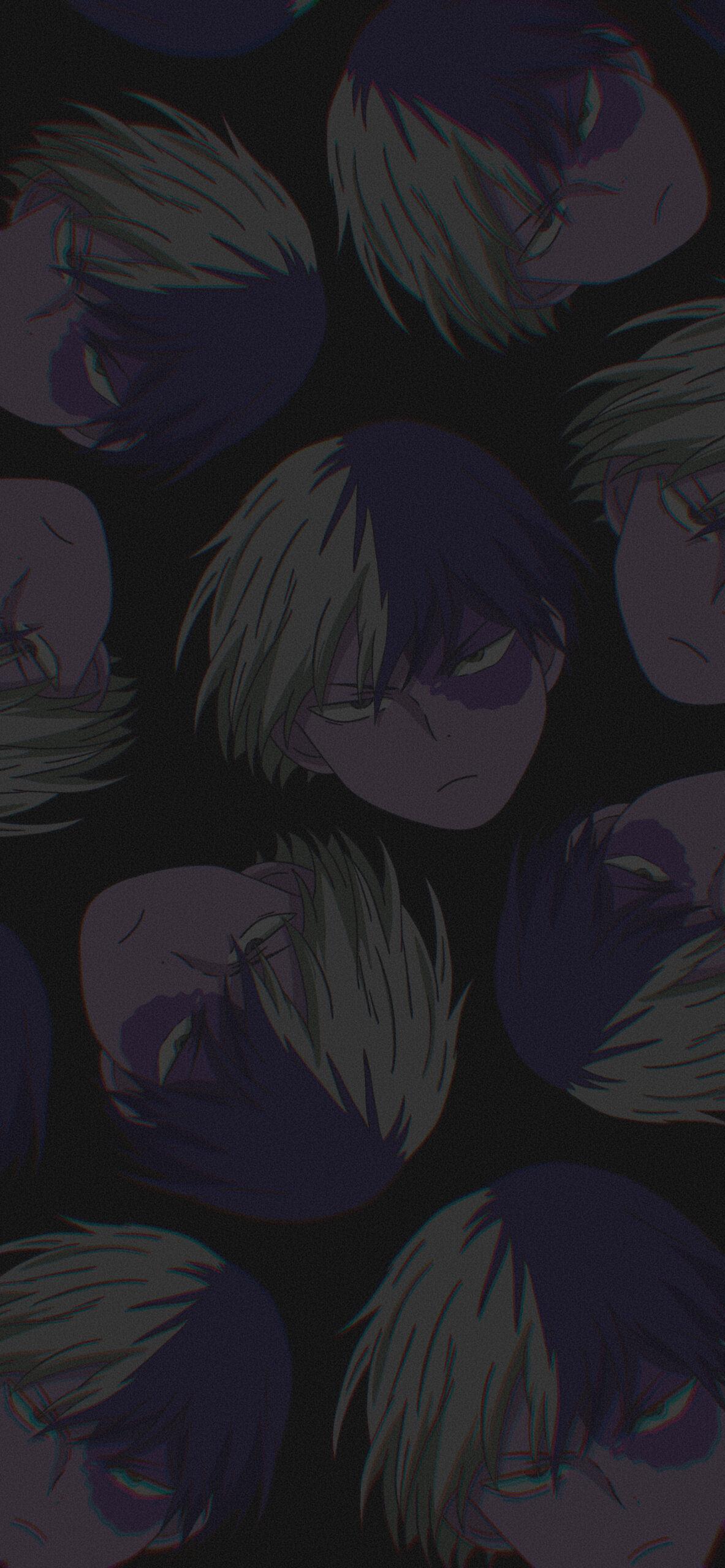 mha shoto todoroki black background 2