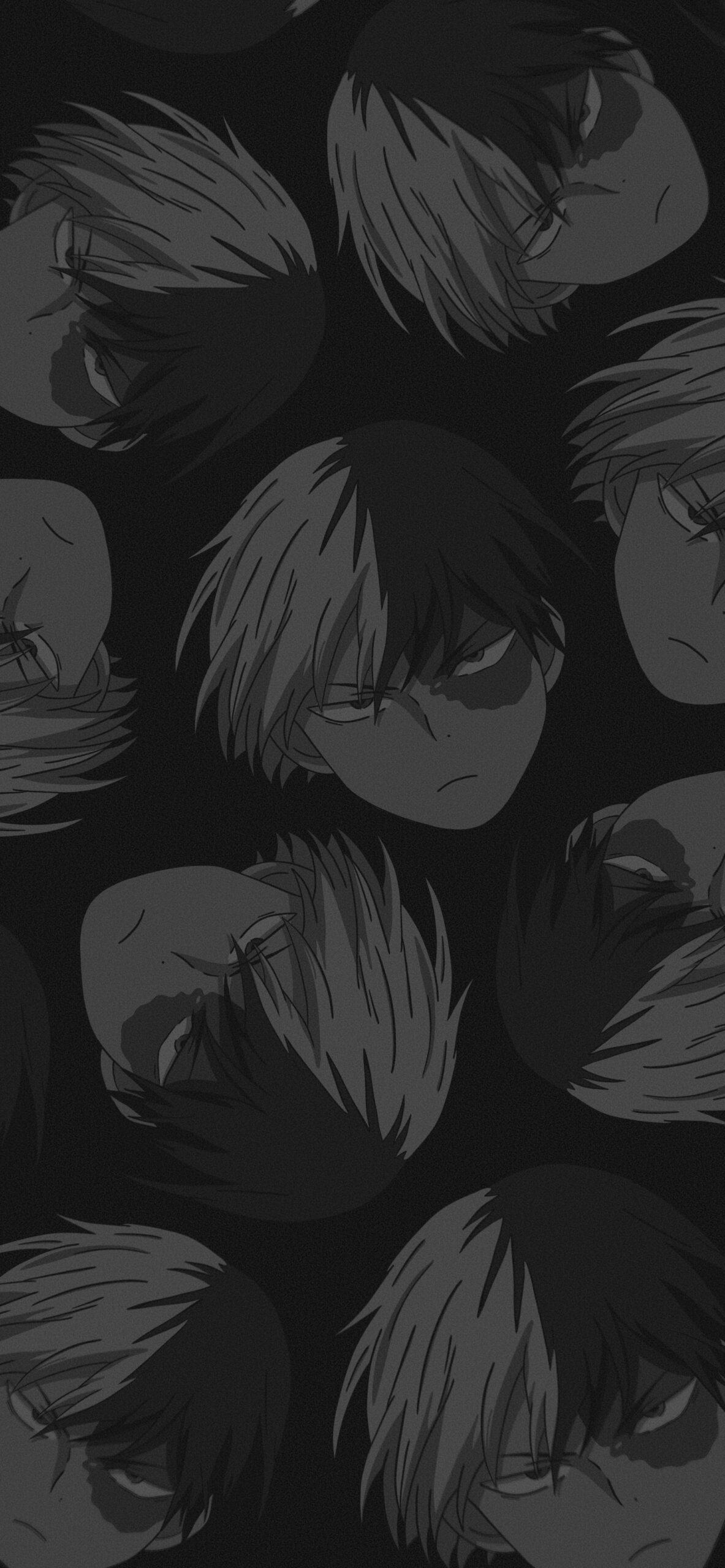 mha shoto todoroki black background