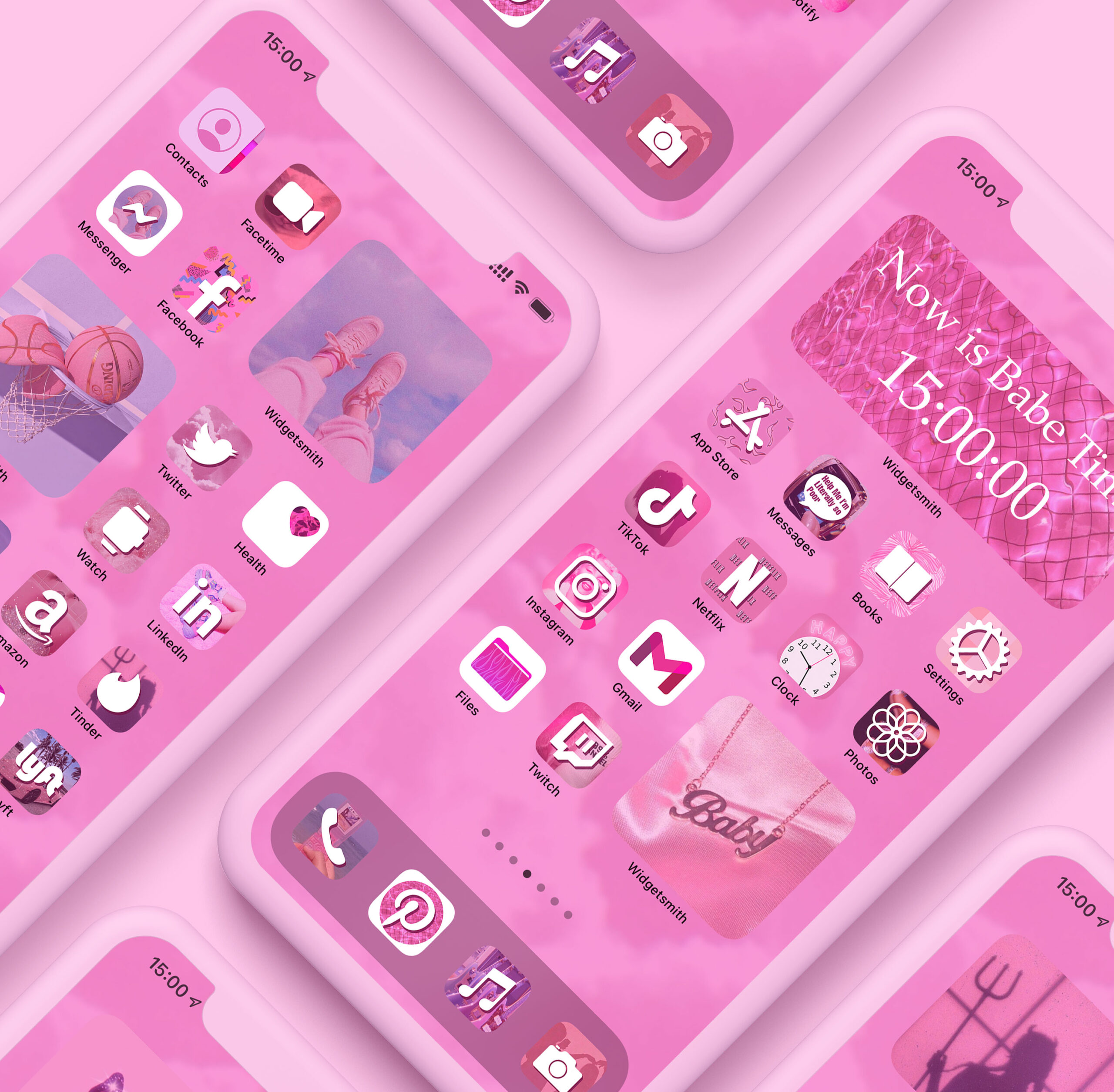 pink aesthetic app icons pack preview 1