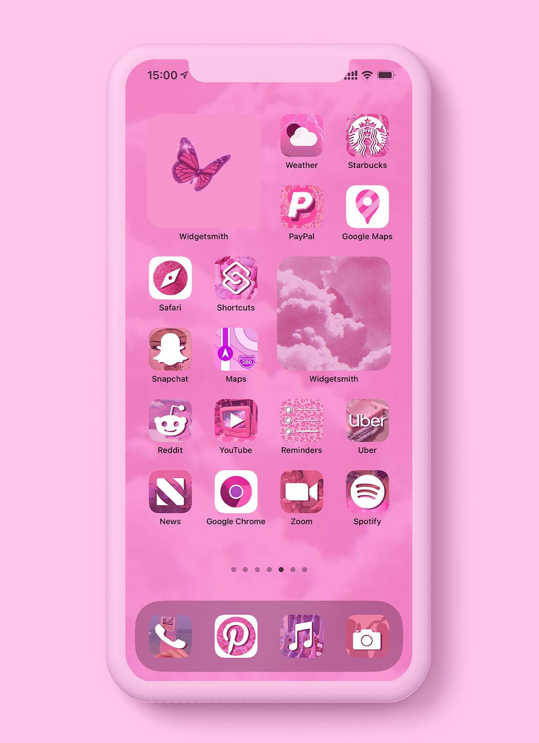 pink aesthetic app icons pack preview 2