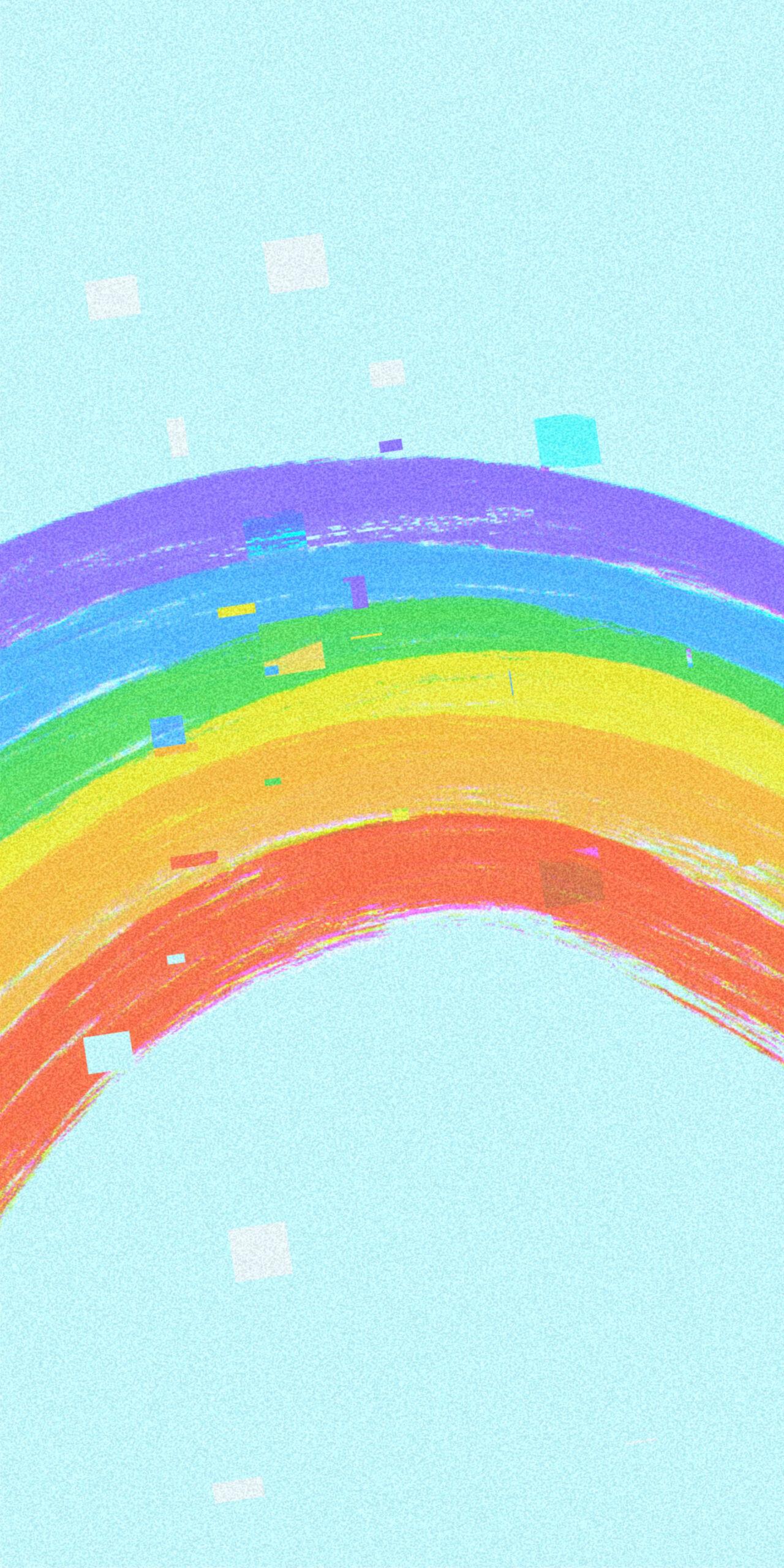 rainbow blue background