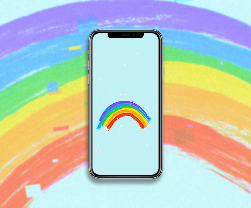 rainbow blue wallpapers collection