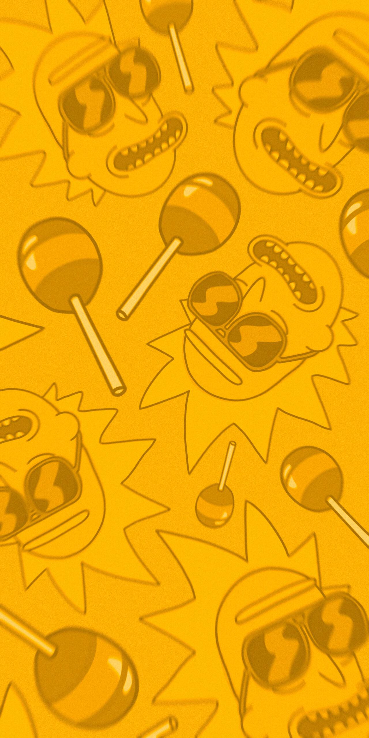rick and morty rick sanchez lollipop orange background