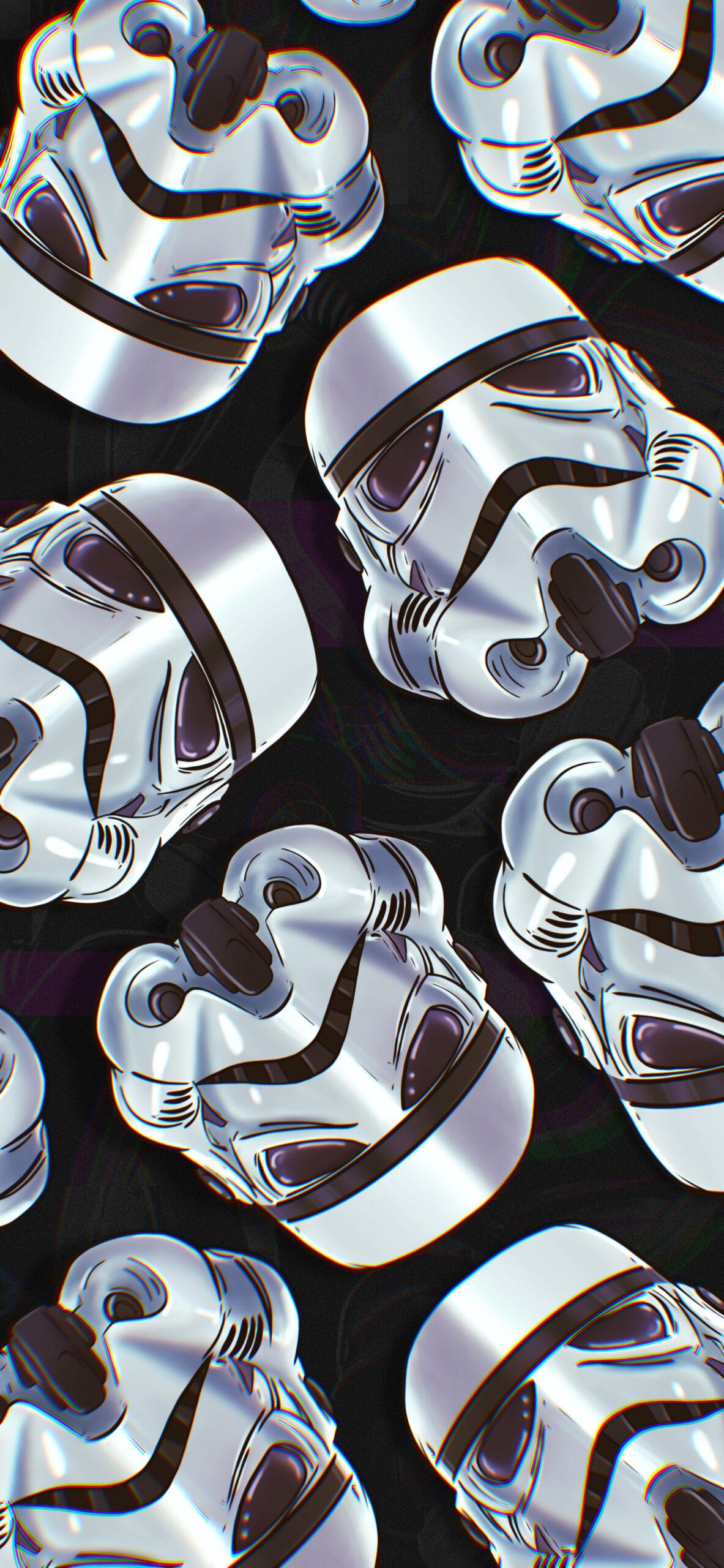 star wars stormtrooper helmet glitch wallpaper 2