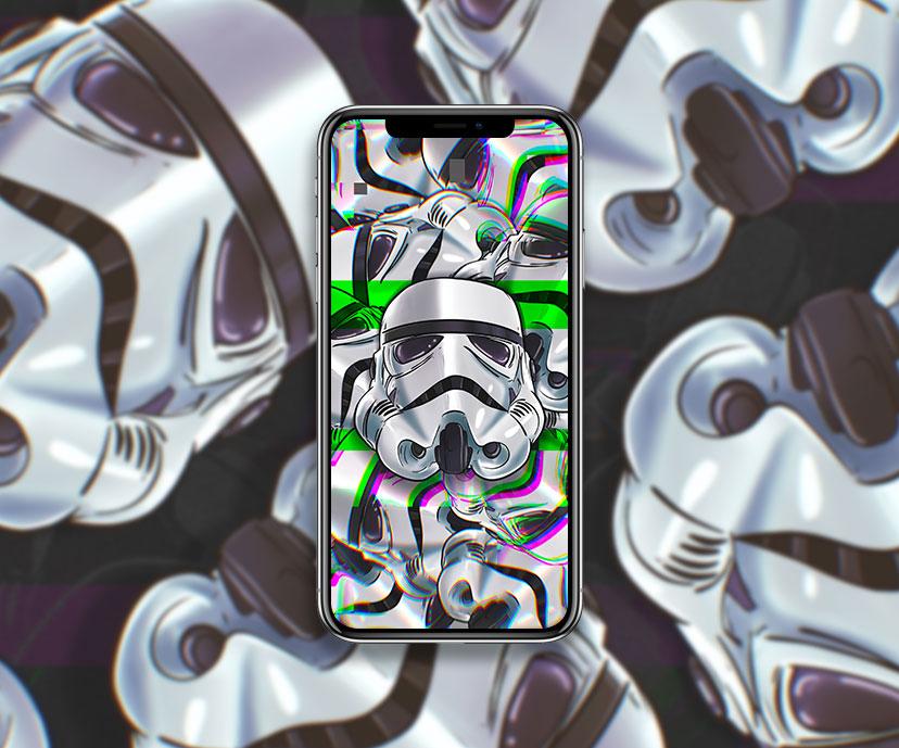 star wars stormtrooper helmet glitch wallpapers collection