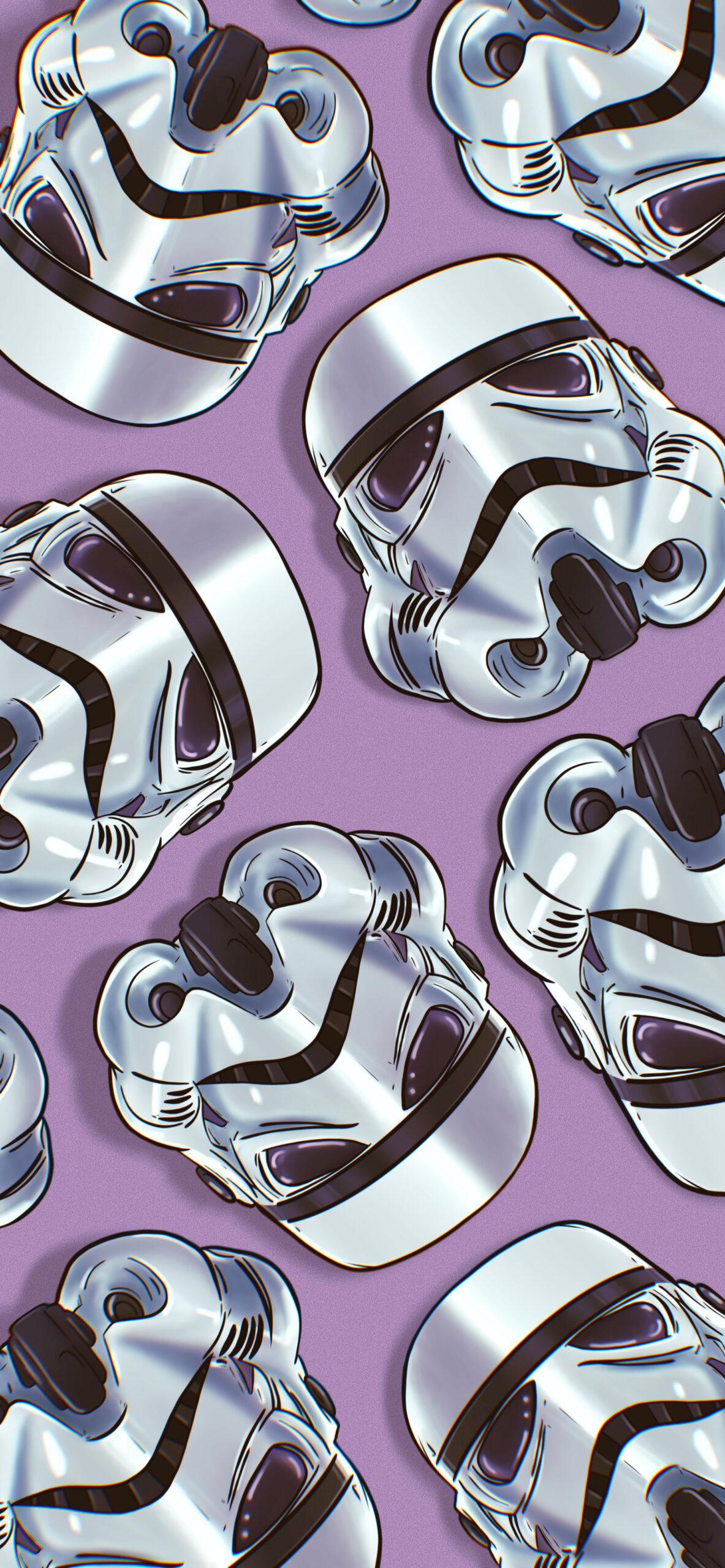 star wars stormtrooper helmet purple wallpaper 2