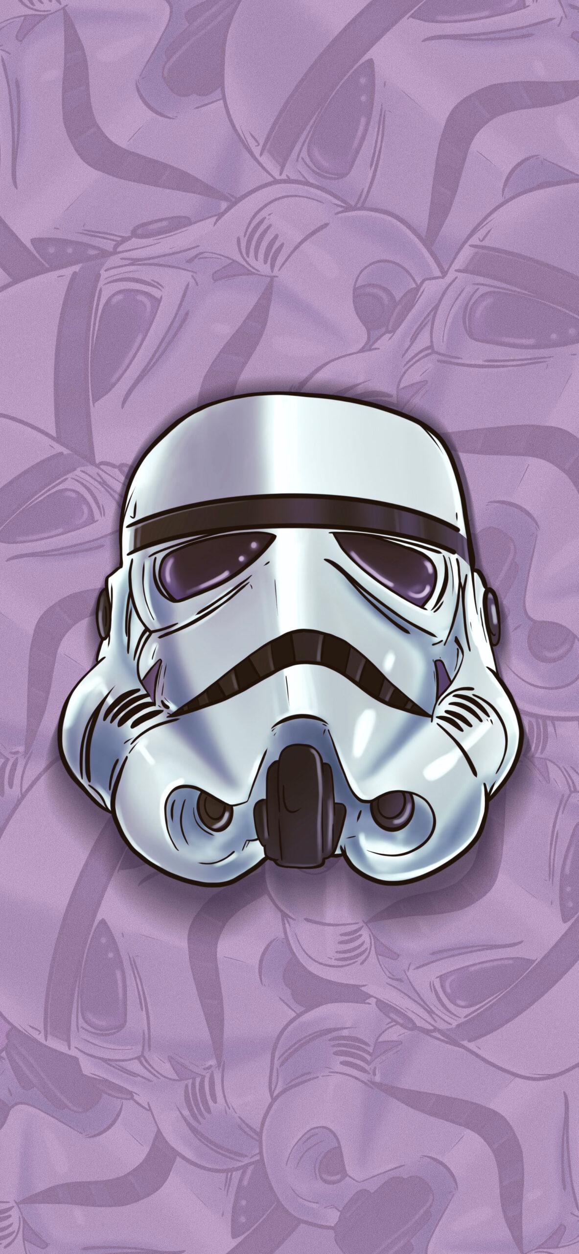 star wars stormtrooper helmet purple wallpaper