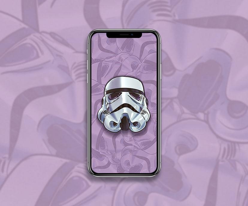 star wars stormtrooper helmet purple wallpapers collection