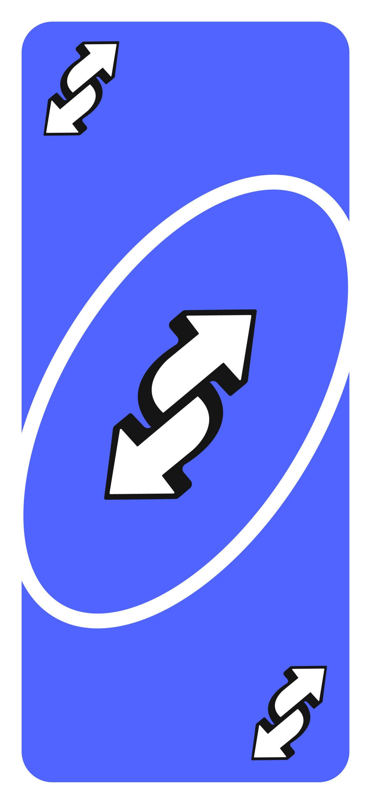 uno reverse card meme blue wallpaper