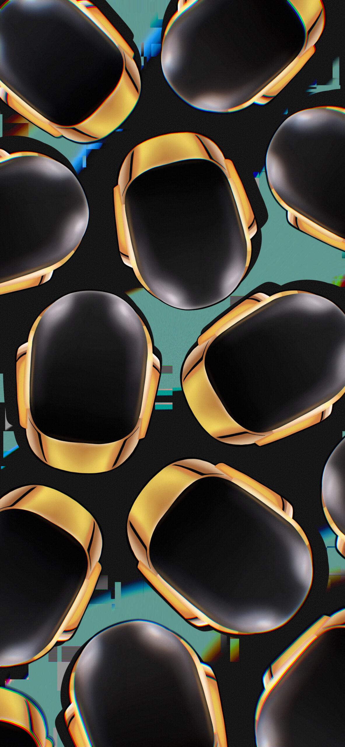 daft punk gold helmet black wallpaper