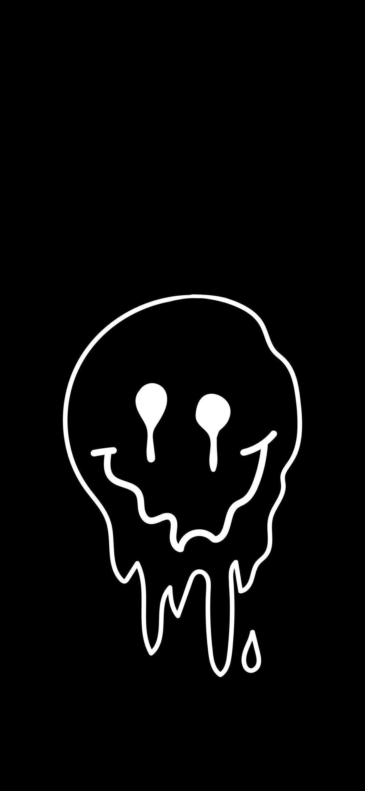 drip face black wallpaper