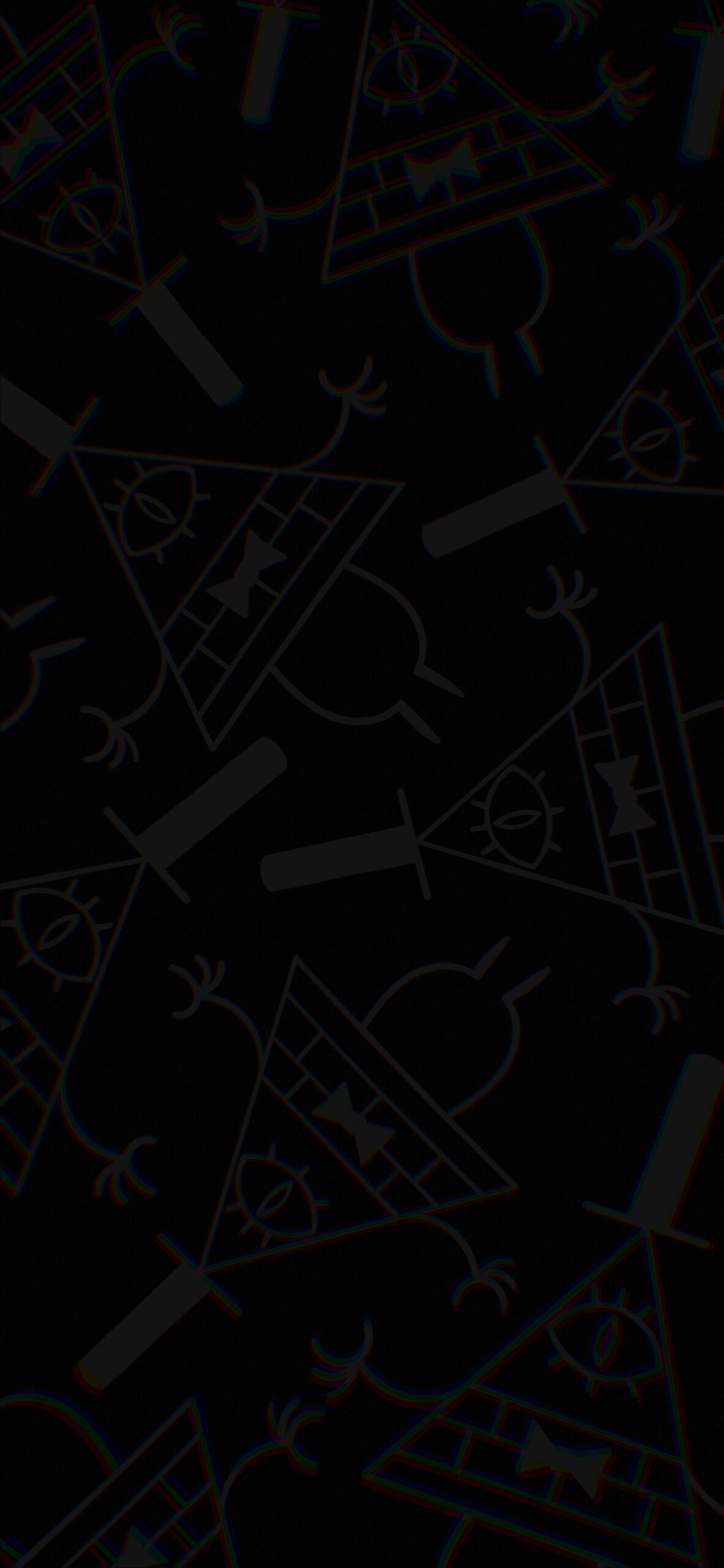 gravity falls bill cipher deep black background