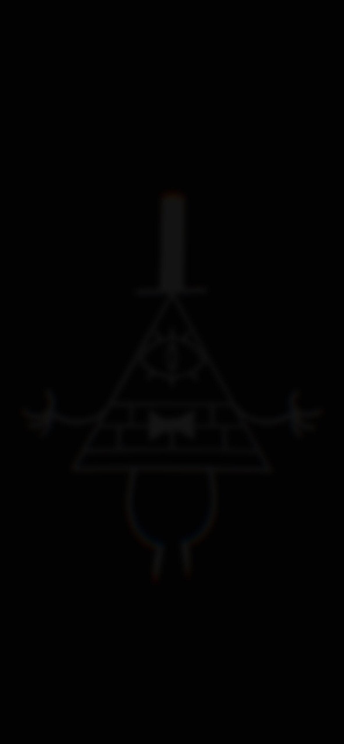 gravity falls bill cipher deep black blur wallpaper