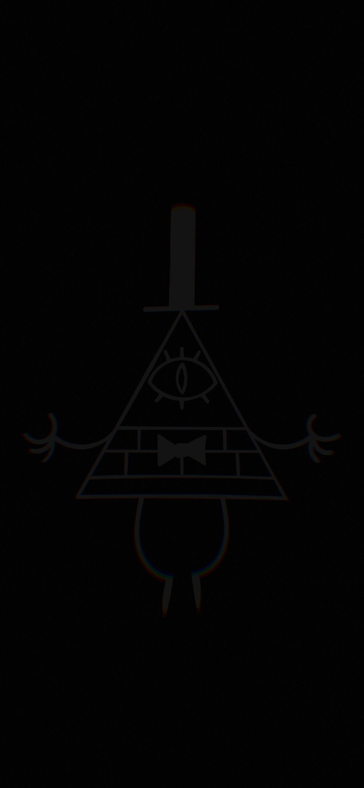 gravity falls bill cipher deep black wallpaper