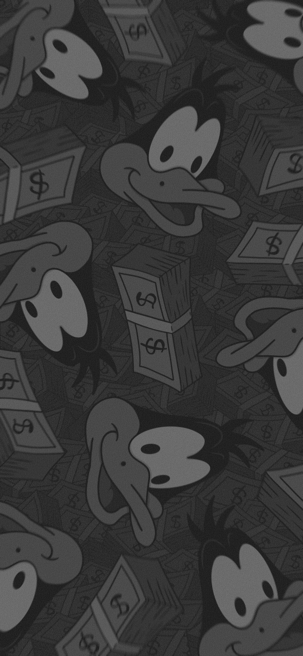 looney tunes daffy duck money background
