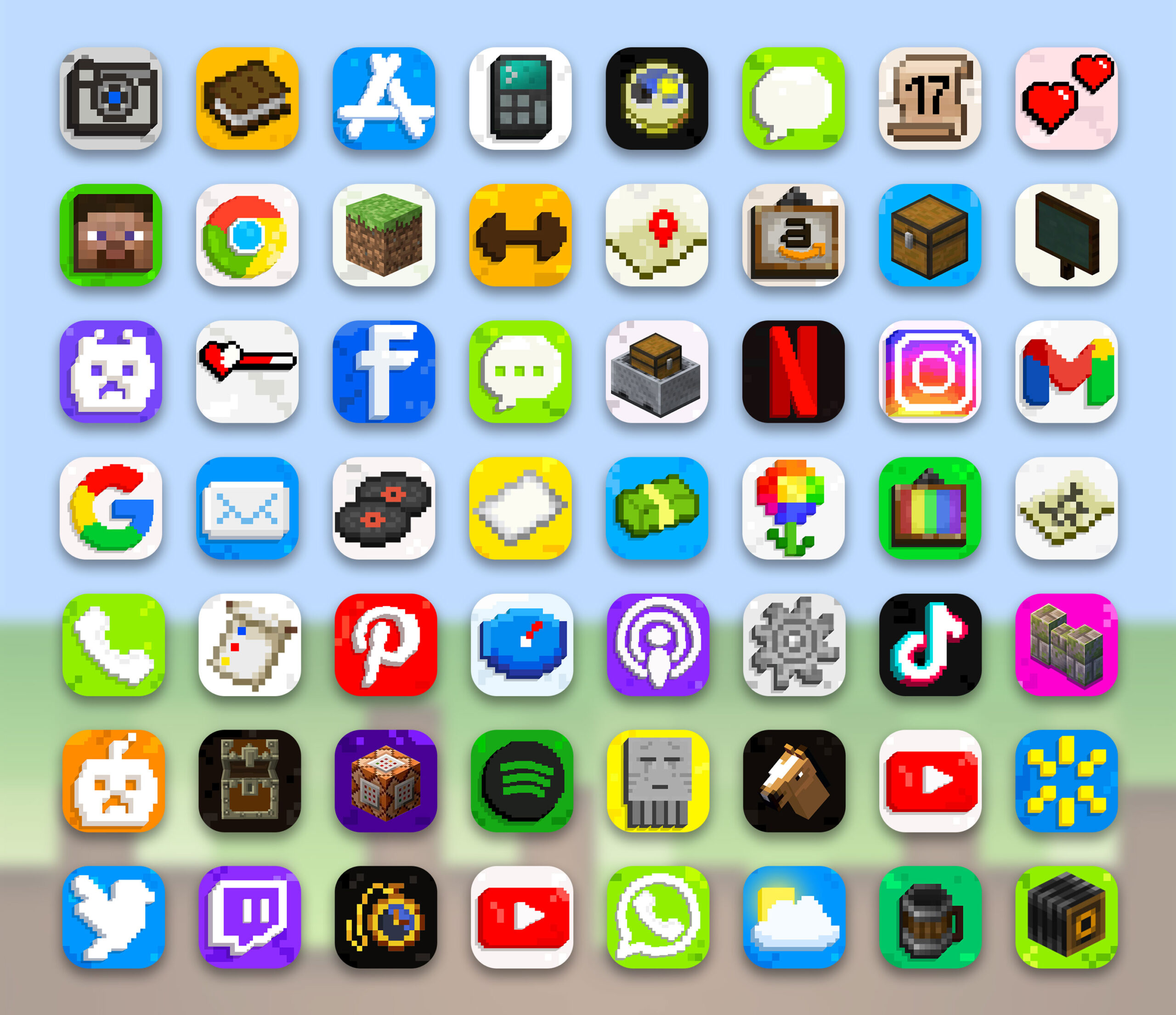 minecraft app icons pack preview 3