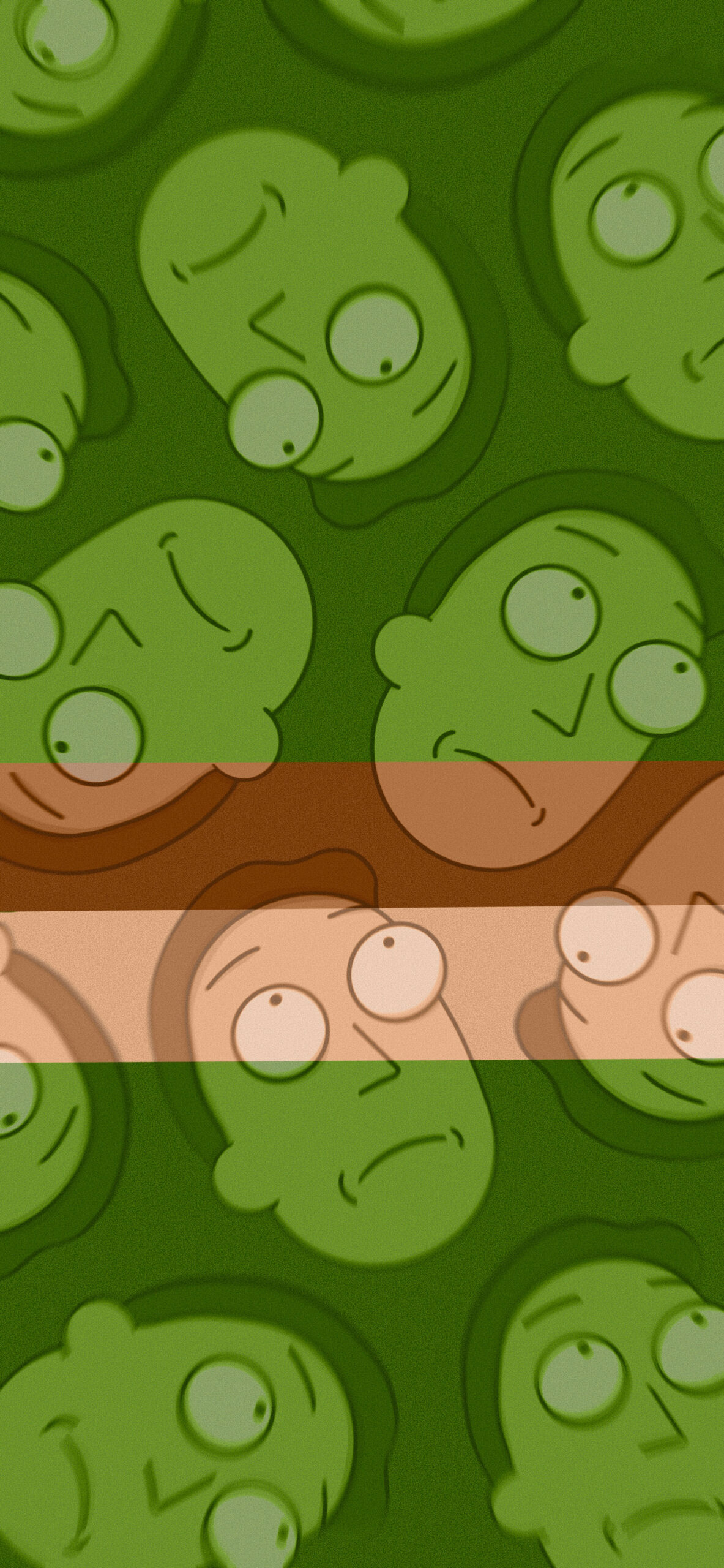 rick and morty jerry smith green background