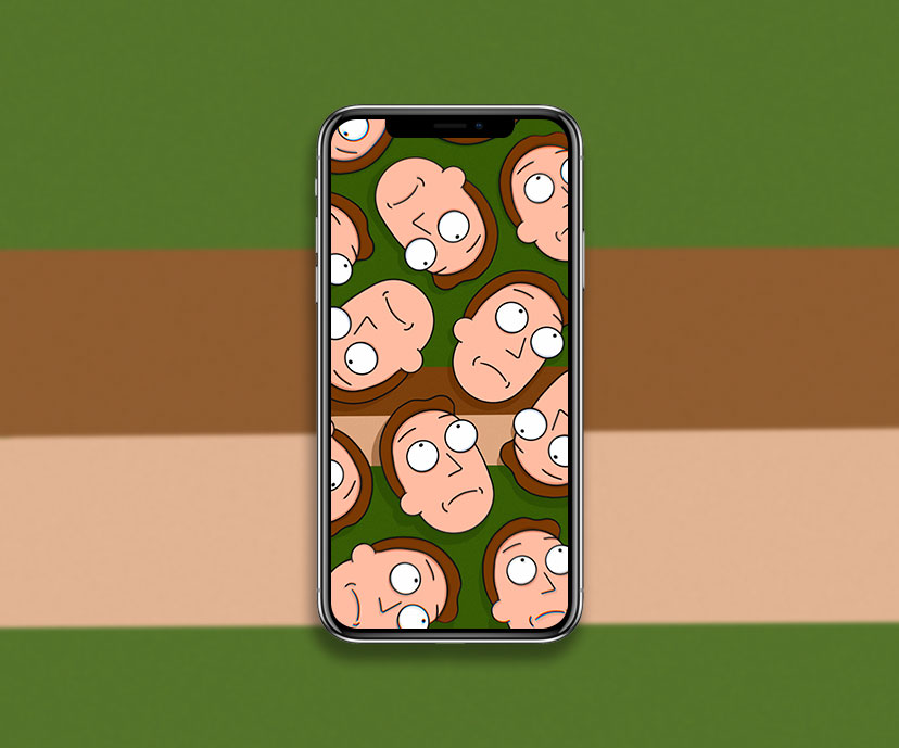 rick and morty jerry smith green wallpapers collection