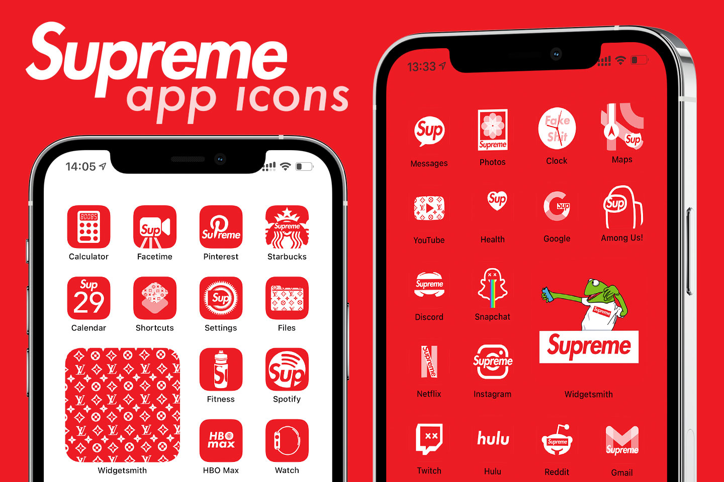 supreme app icons pack