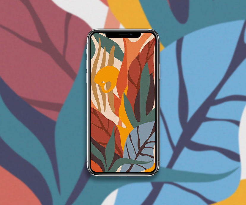 abstract autumn leaves wallpapers collection