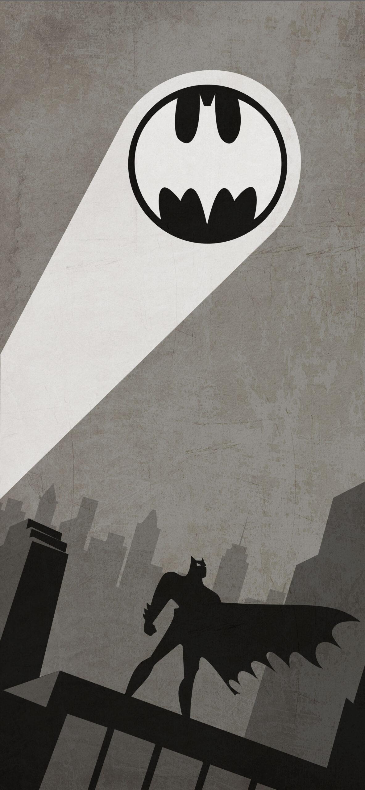 batman the animated series grey wallpaper