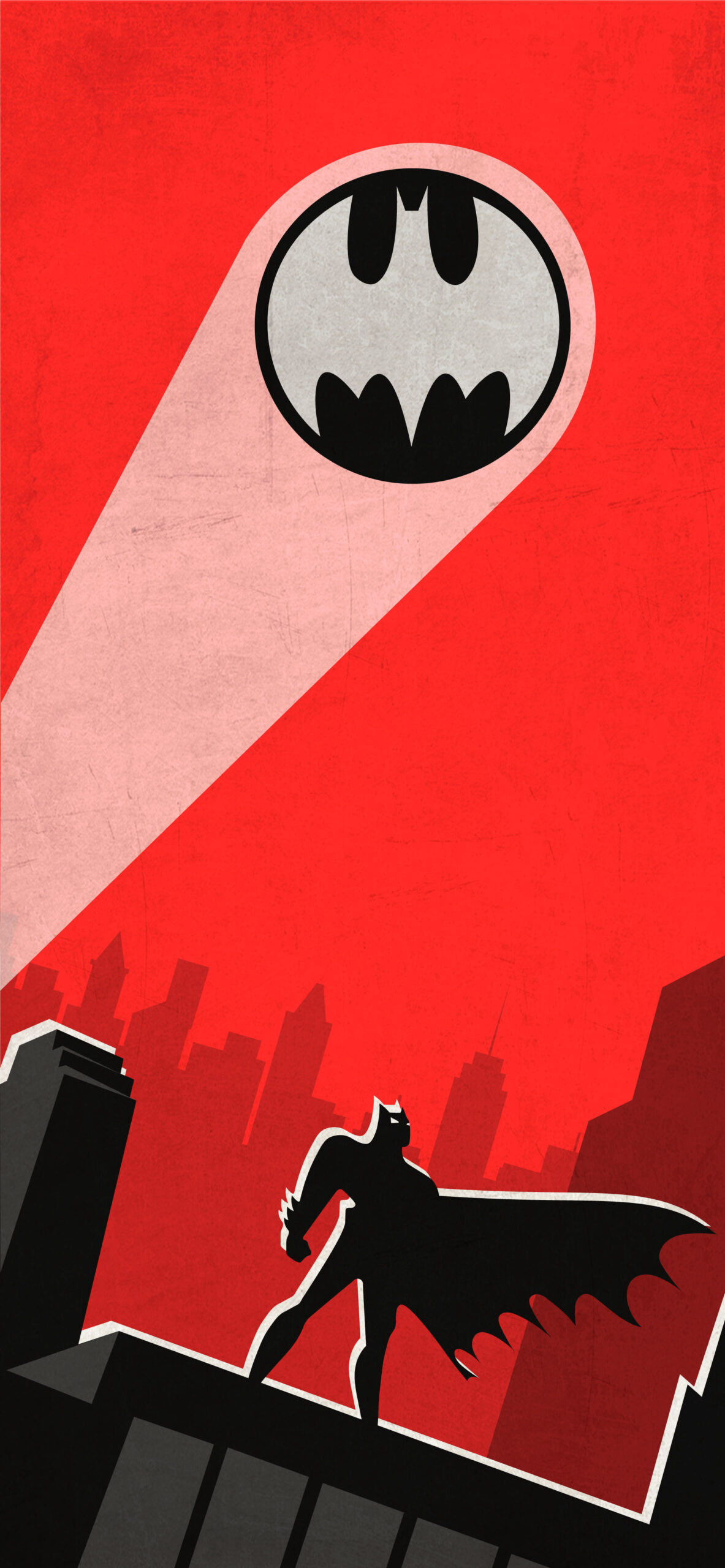batman the animated series red wallpaper