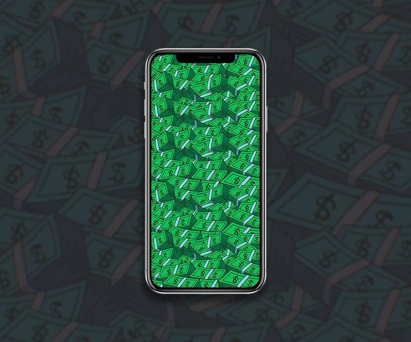 cartoon big money green wallpapers collection