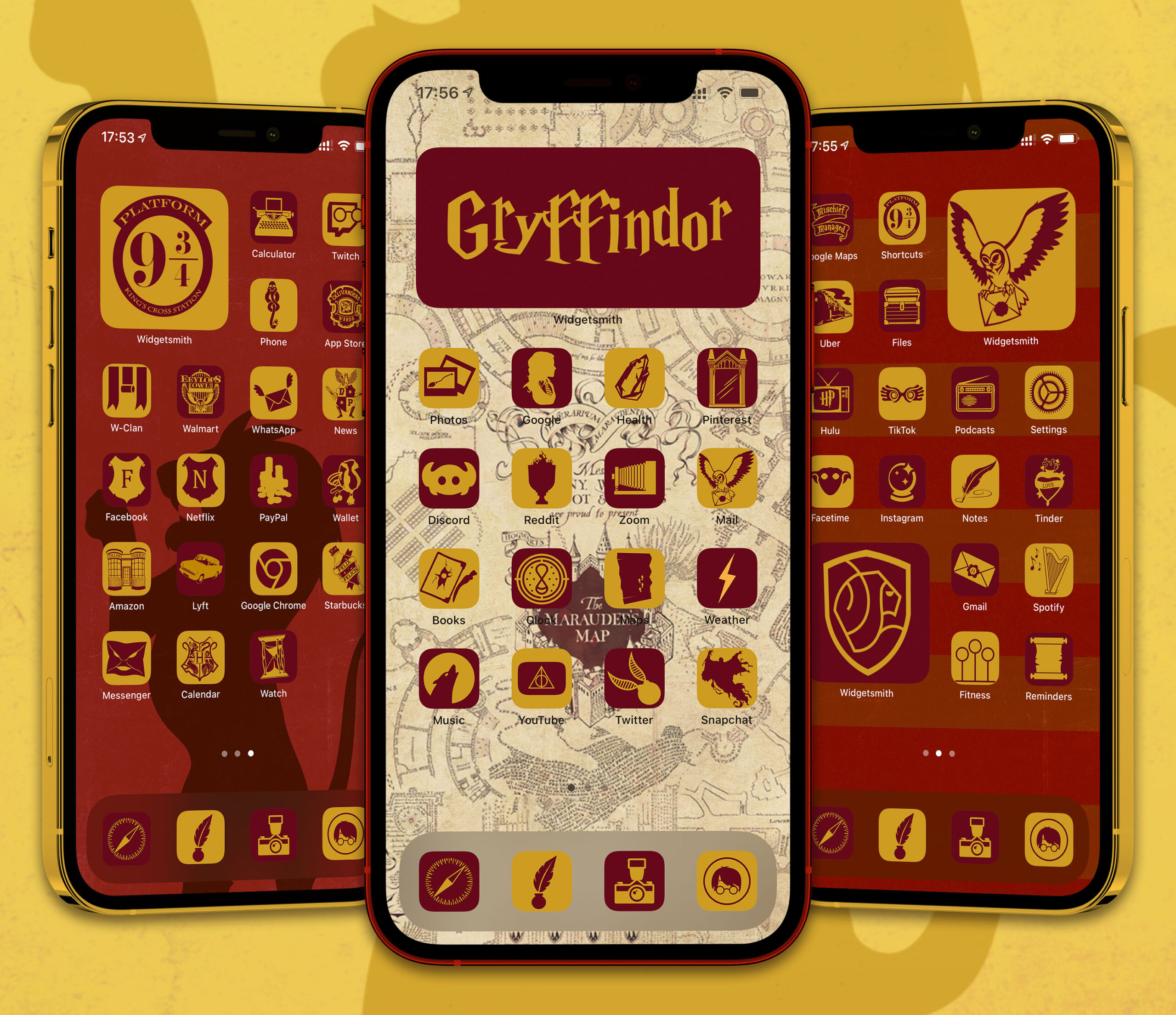 harry potter gryffindor app icons pack preview 1