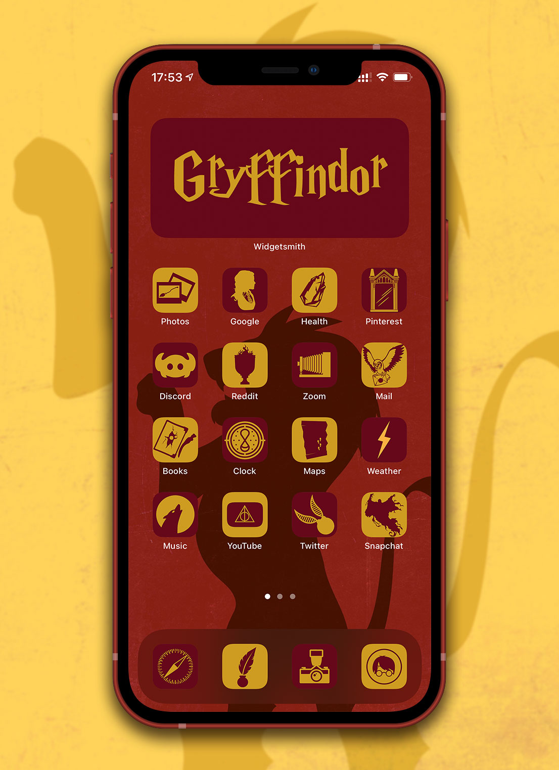 harry potter gryffindor app icons pack preview 2