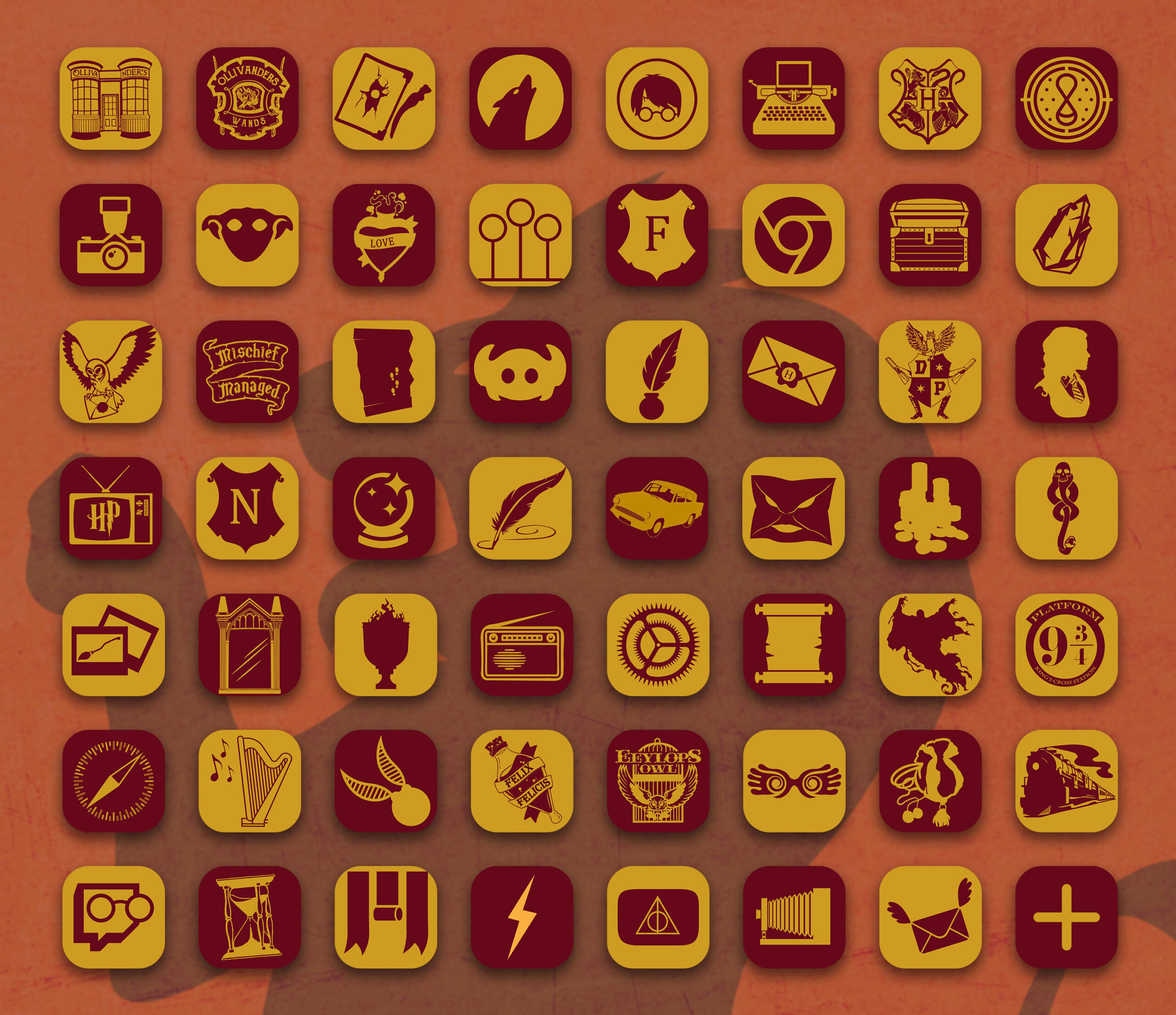 harry potter gryffindor app icons pack preview 3