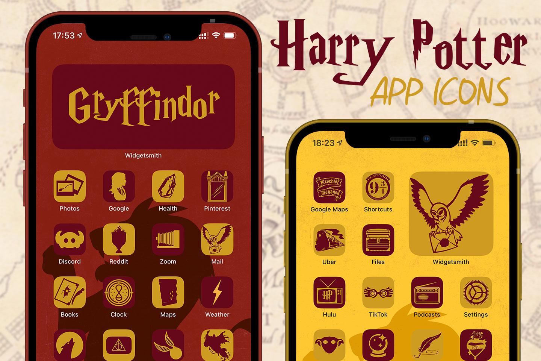 harry potter gryffindor app icons pack