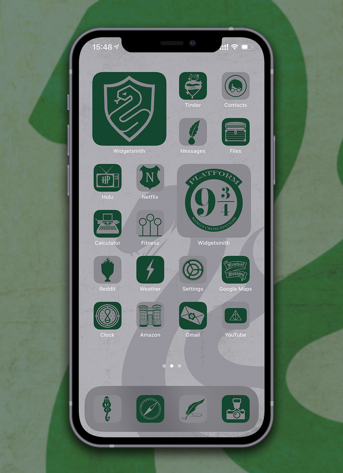 harry potter slytherin app icons pack preview 4