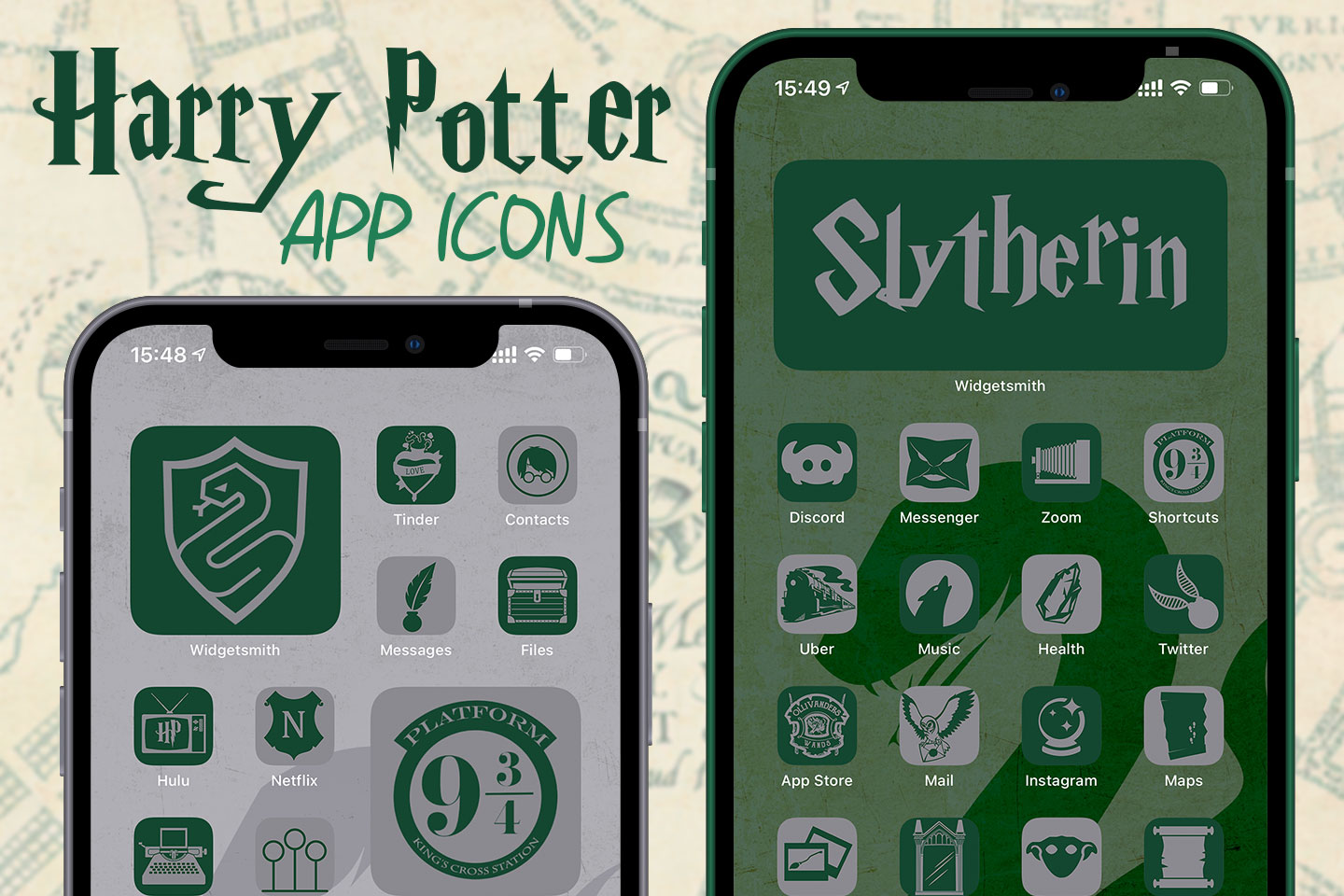 harry potter slytherin app icons pack