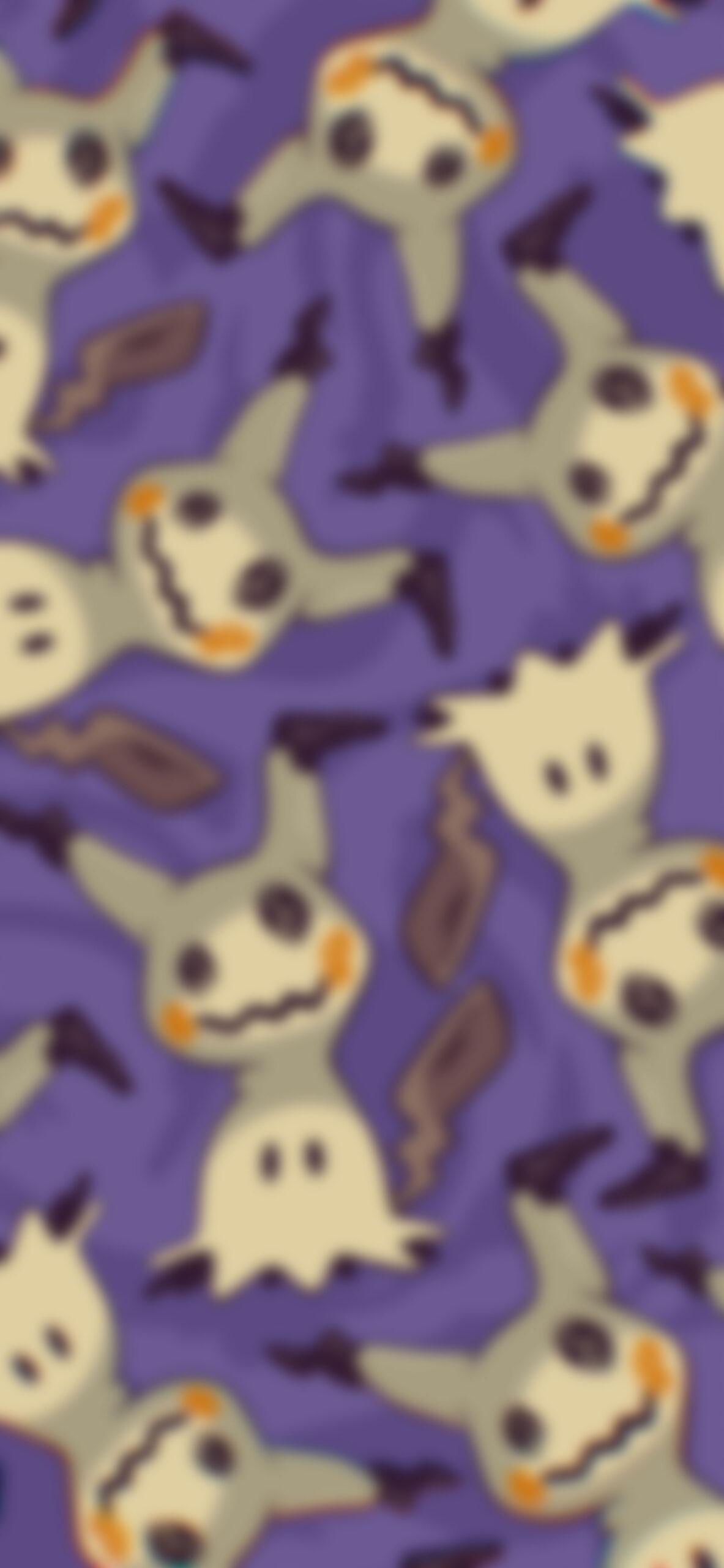 pokemon mimikyu purple blur wallpaper