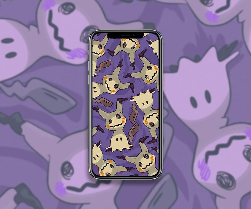pokemon mimikyu purple wallpapers collection