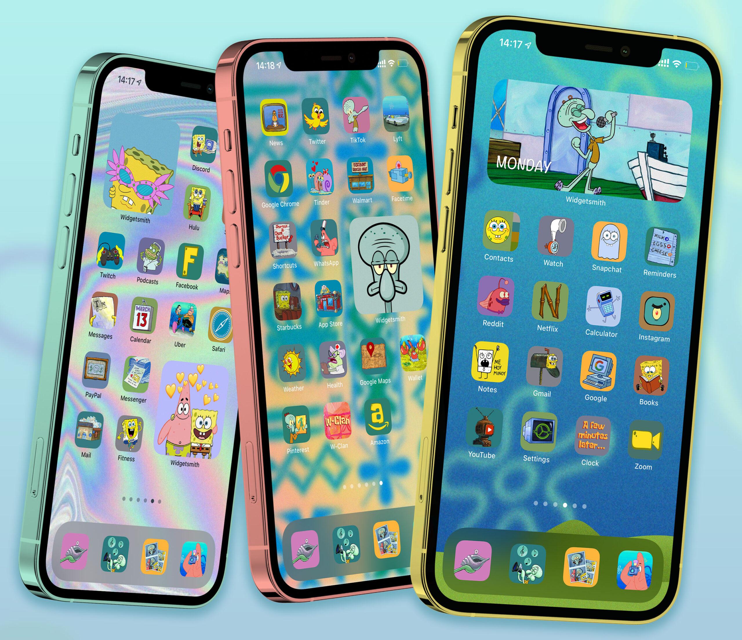 spongebob app icons pack preview 1