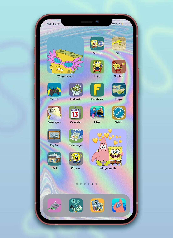 spongebob app icons pack preview 4