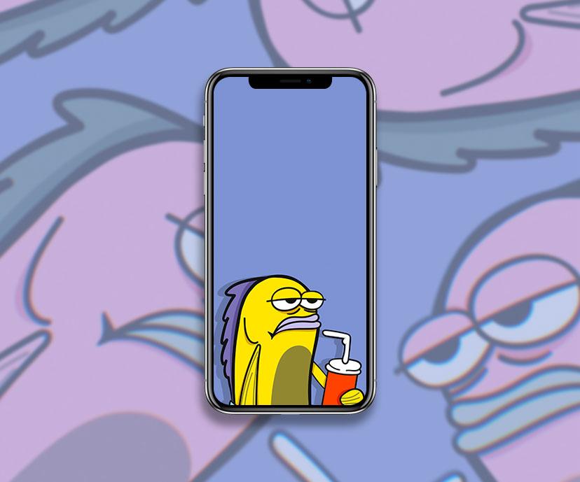 spongebob fish drinking soda meme wallpapers collection