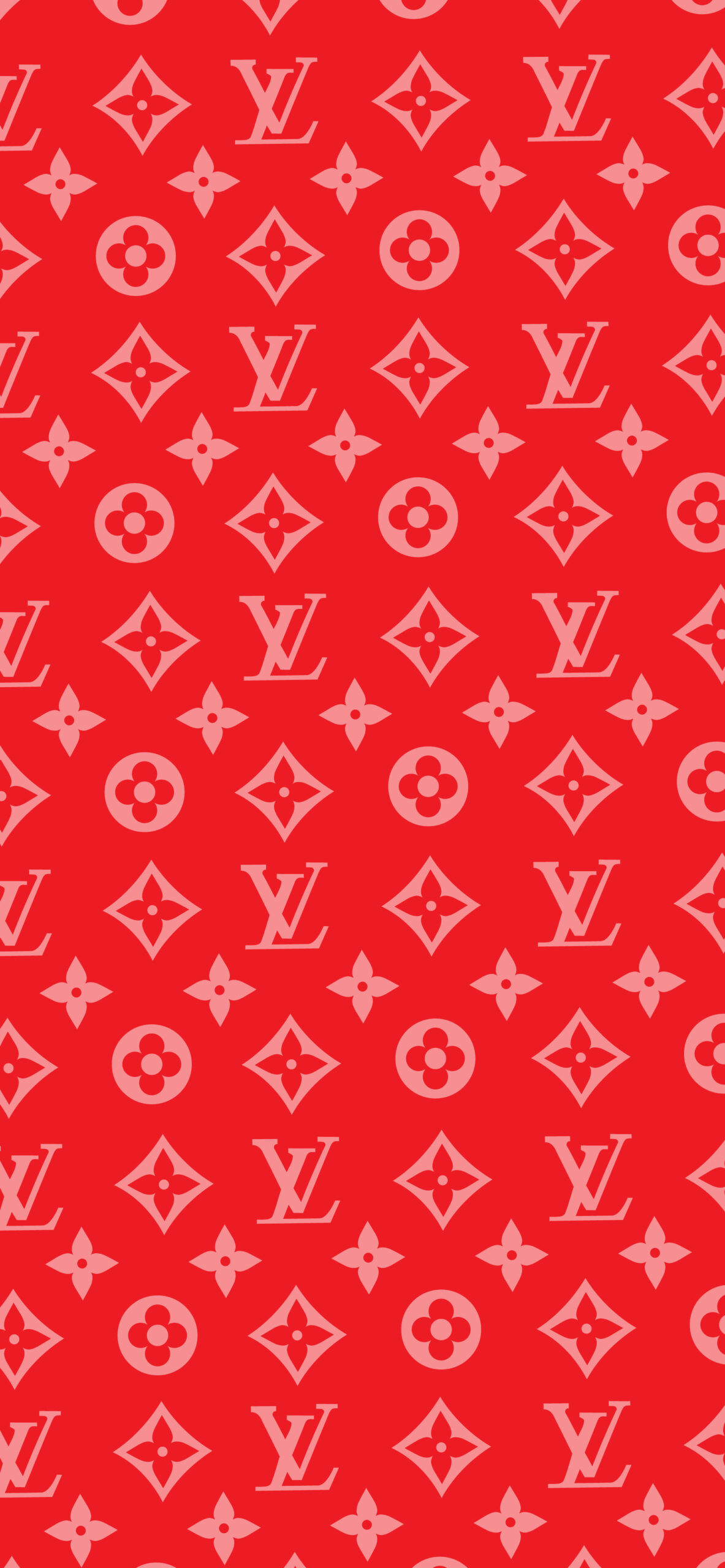 supreme louis vuitton red background