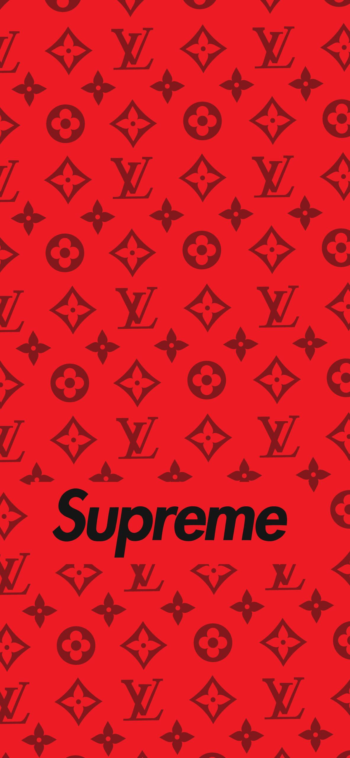 supreme louis vuitton red wallpaper 2