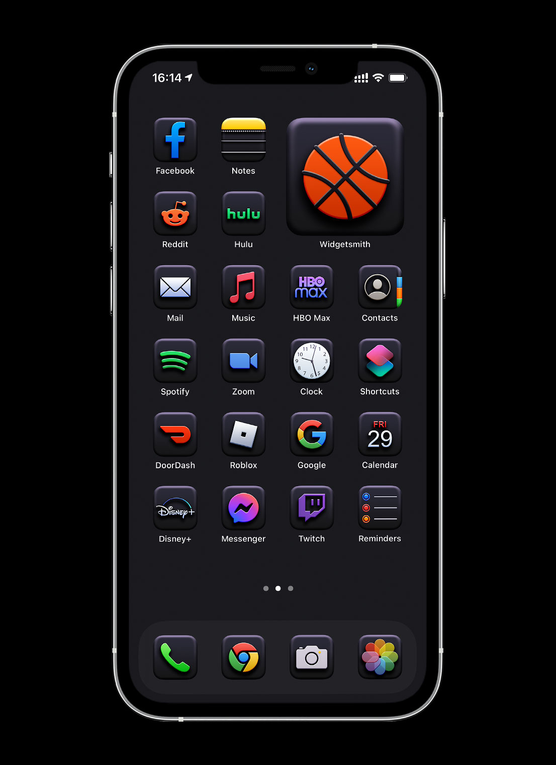 black 3d app icons pack preview 2