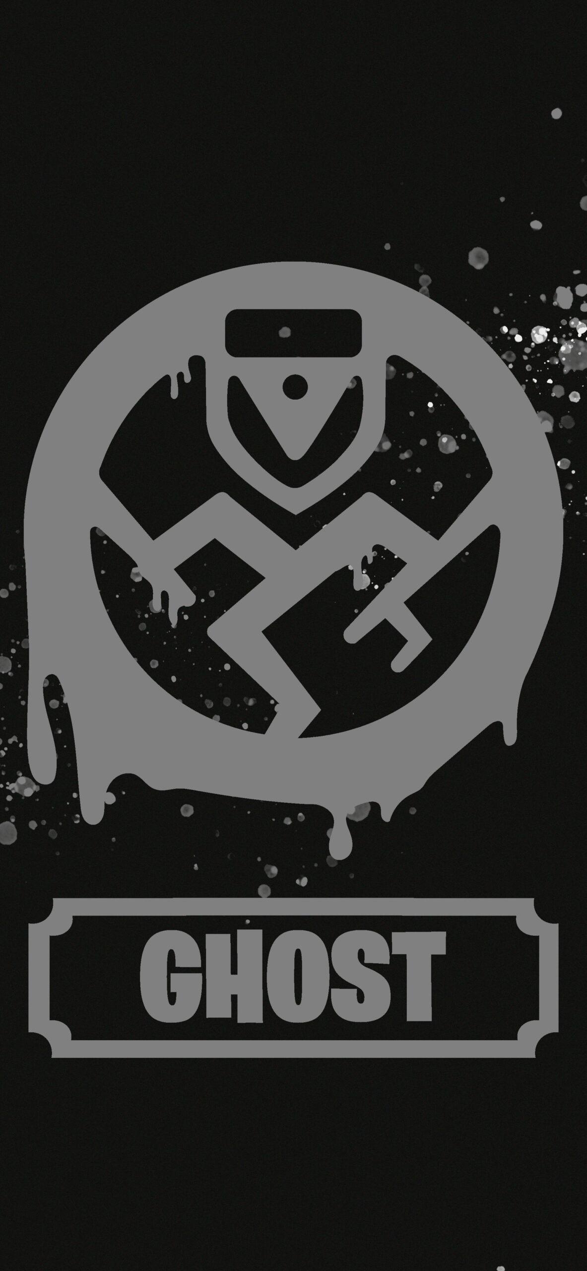 fortnite ghost logo black wallpaper