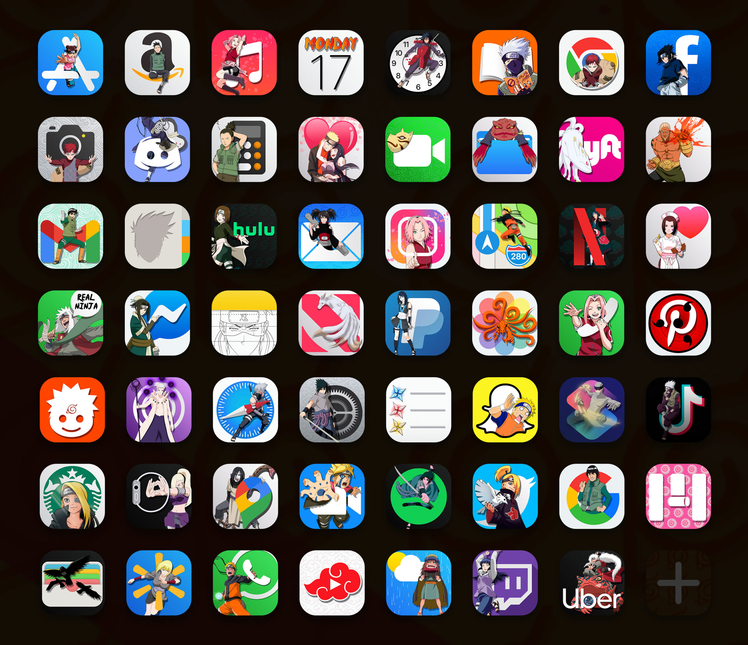 naruto app icons pack preview 2