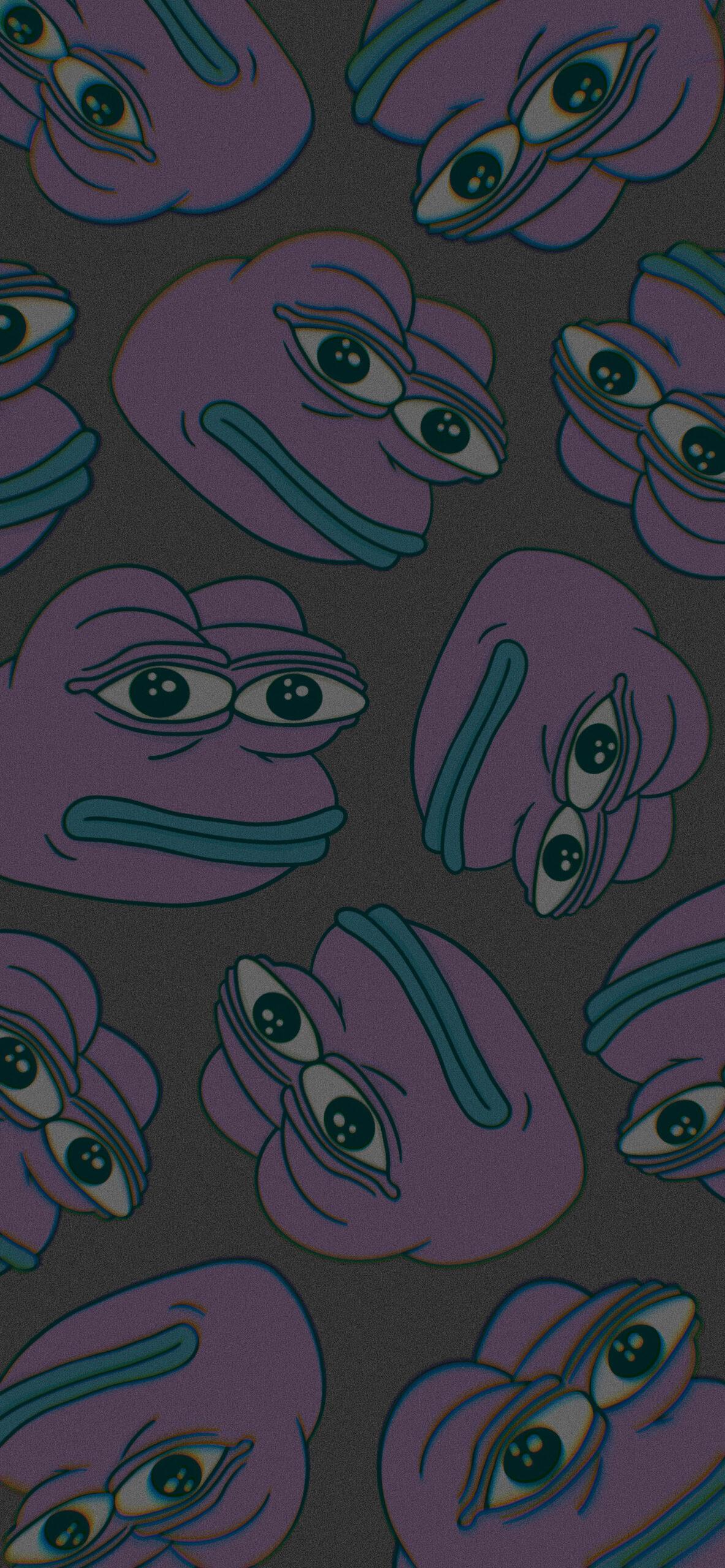 pepe the frog black meme background