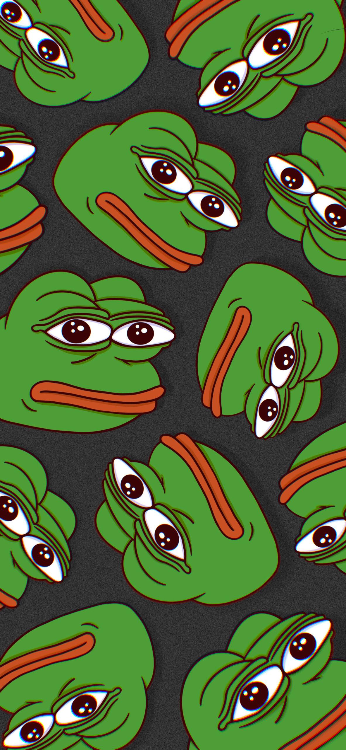 pepe the frog black meme wallpaper