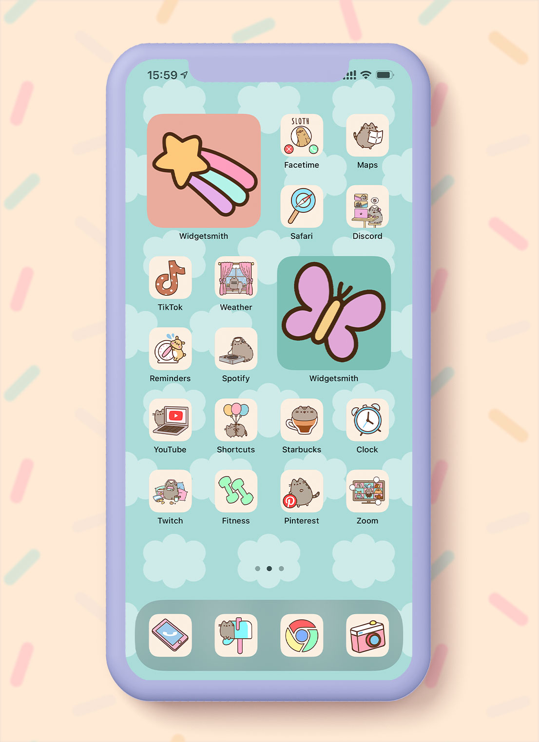 pusheen app icons pack preview 2