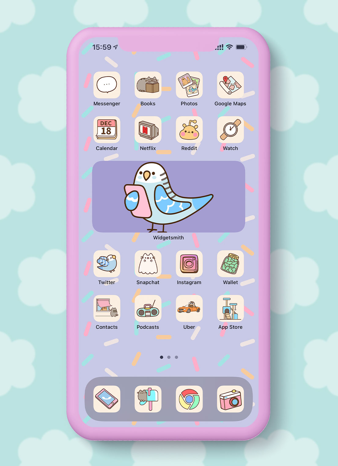 pusheen app icons pack preview 4
